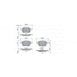 Plaquettes Bosch (BP262)